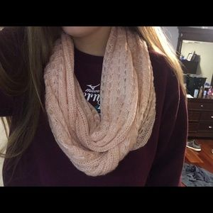 light pink long infinity scarf